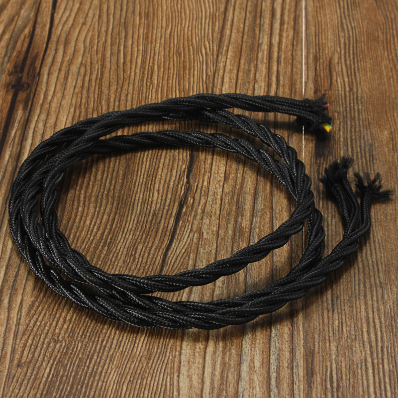 Cable Electrique Torsadé : 1m c ble corde 3 core electrique torsad textile effet ~ Edinachiropracticcenter.com Idées de Décoration