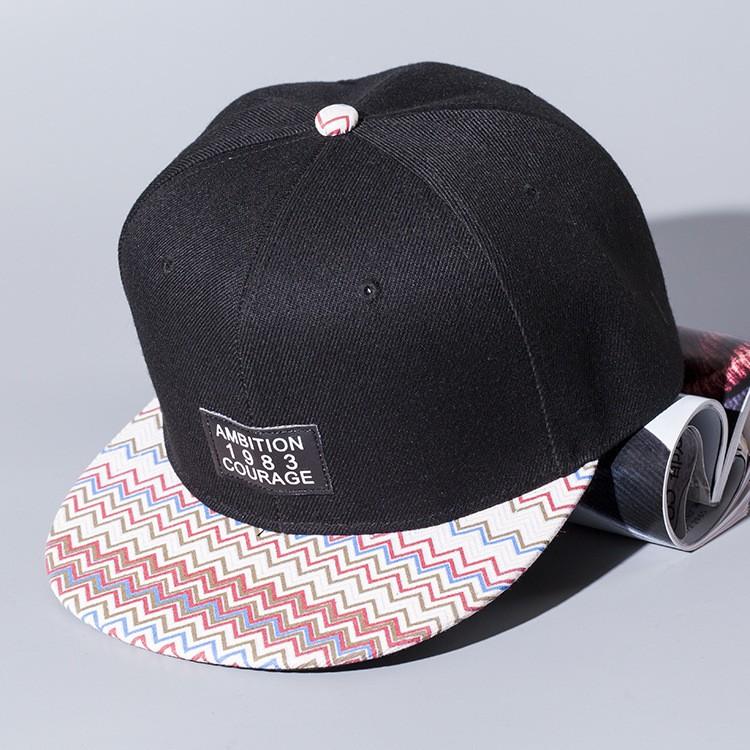 Men Women Print Snapback Baseball Cap Hip Hop Bboy Flat Peak Hat Adjustable