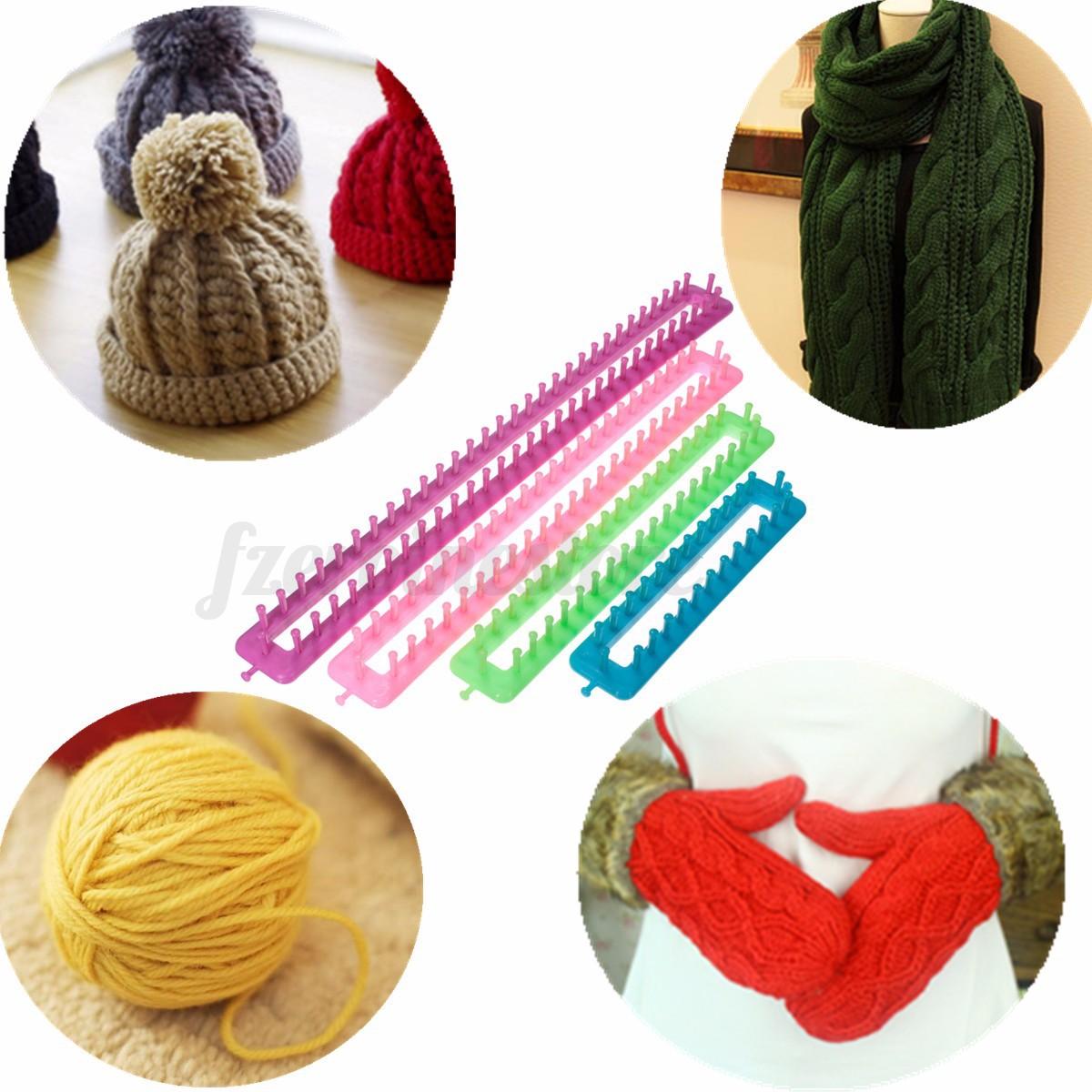 Loom Knitting Kits Uk : Long knitting knitter looms set pompom maker craft kit
