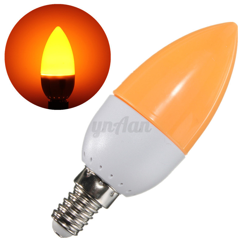 6/10X 5W E14 SES LED Chandelier Candle Light Bulb Lamp Red ...
