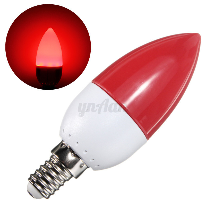 6 10x 5w E14 Ses Led Chandelier Candle Light Bulb Lamp Red Green Blue Orange Ebay