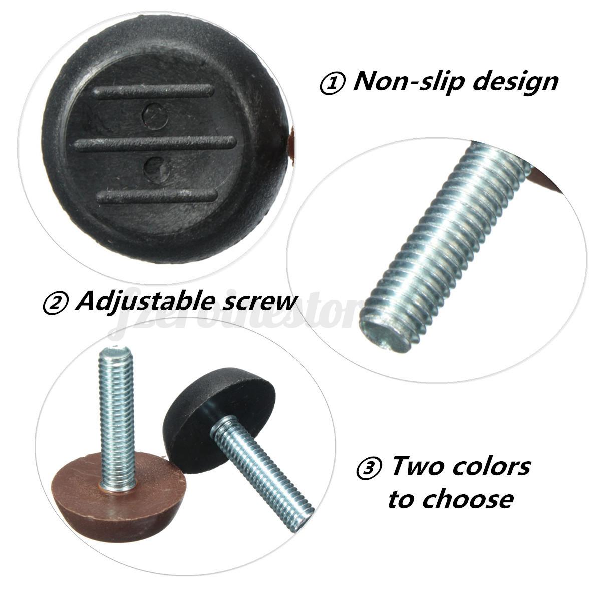 M mm adjustable screw threaded glide feet leveling