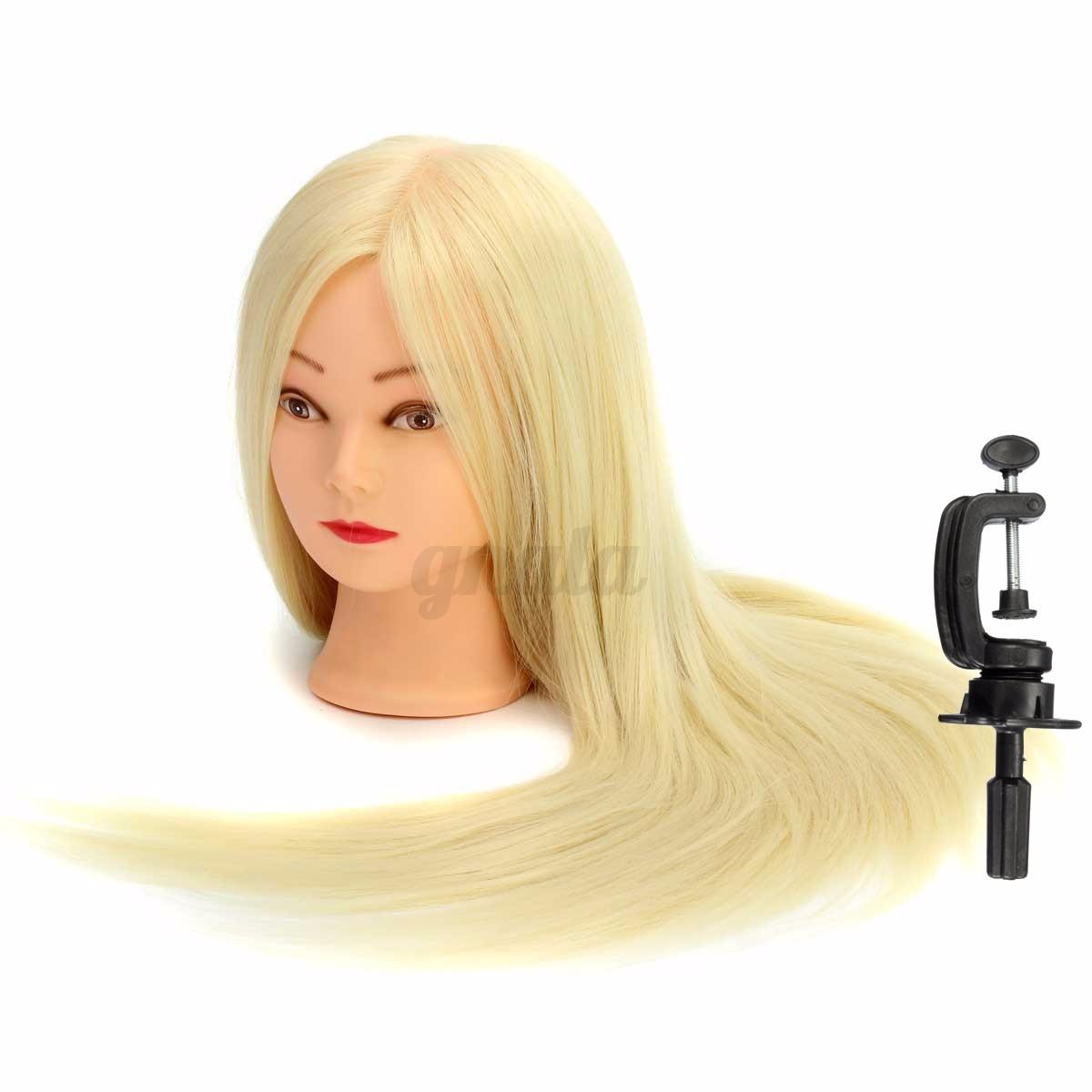 26 Real Human Hair Hairdressing Training Head