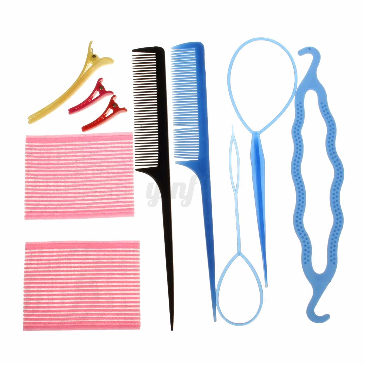 11 Style Braid Hair Clip Styling Maker Tool Pads Foam Sponge Bun Donut Hairpins