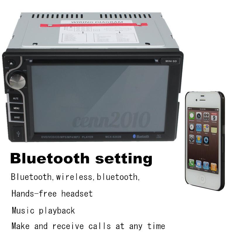 6 2 Double 2 Din Voiture Bluetooth Autoradio Mp3 In Dash