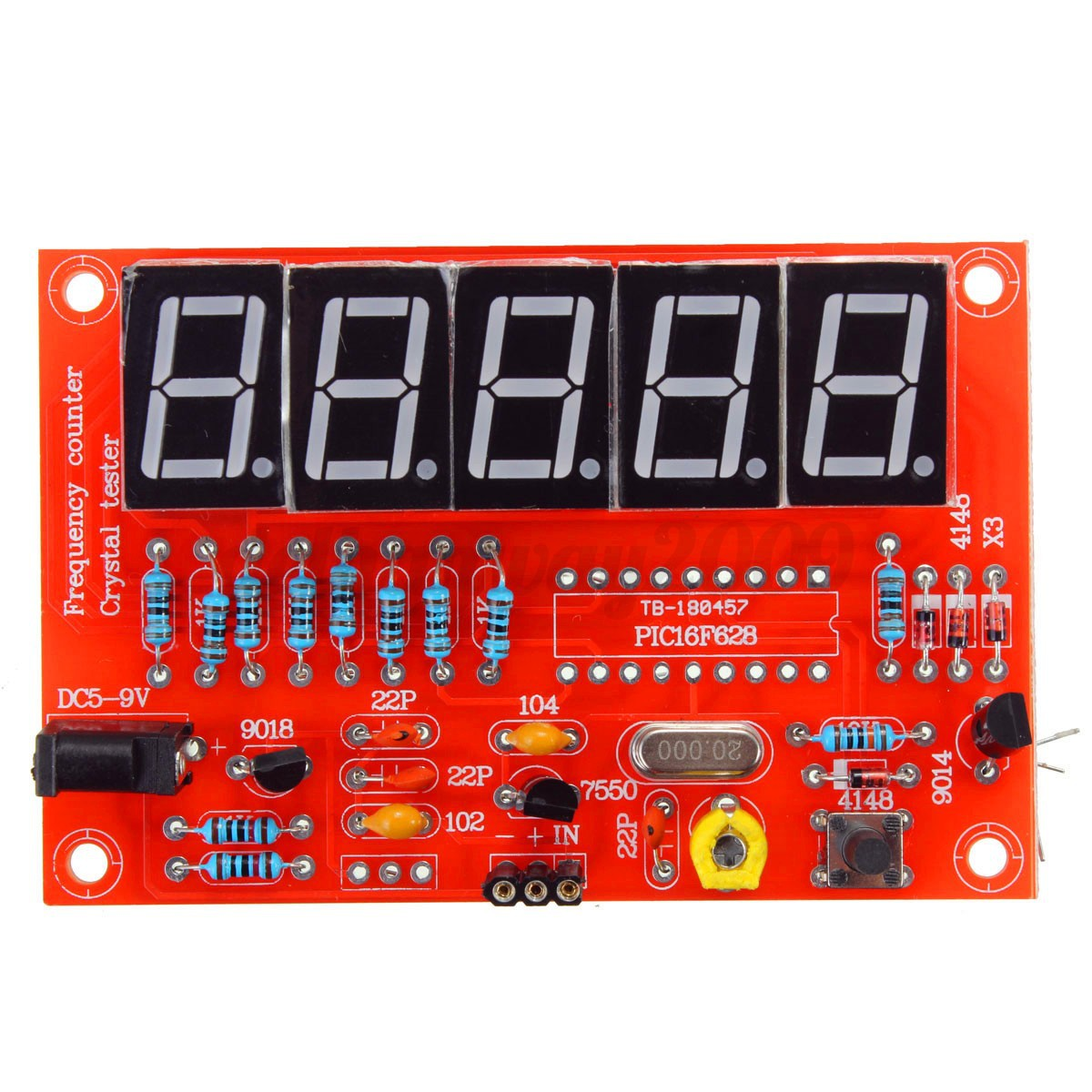 Frequency Counter Kit : Hz mhz crystal oscillator frequency counter meter