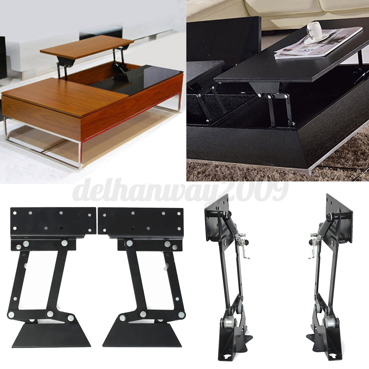 folding lift up table hinge for coffee desk mechanism. Black Bedroom Furniture Sets. Home Design Ideas