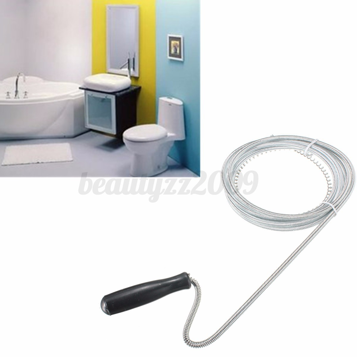 Kitchen Sink Unblocker: 3m Sink Unblocker Drain Pipe Steel Wire Cleaner Plunger