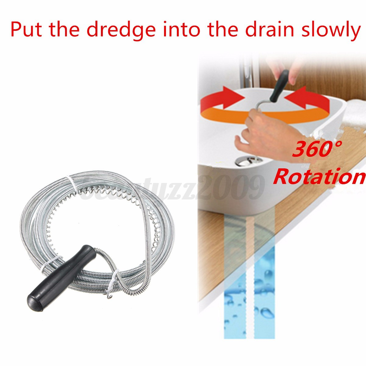 3m sink unblocker drain pipe steel wire cleaner plunger kitchen toilet hole. Black Bedroom Furniture Sets. Home Design Ideas