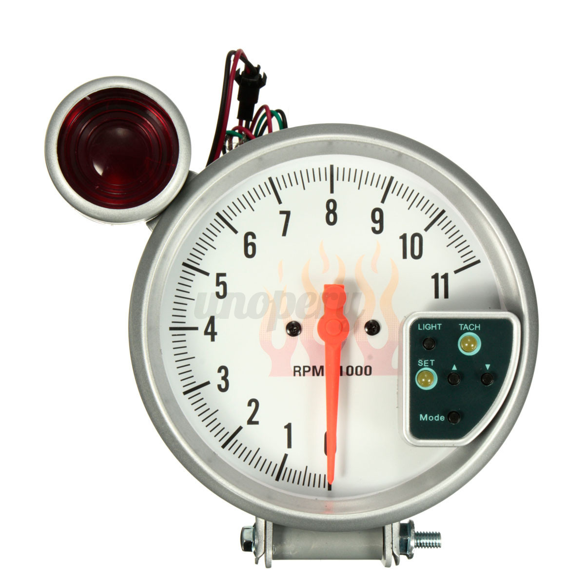 5 39 39 car adjustable 7 color led tachometer meter tach gauge. Black Bedroom Furniture Sets. Home Design Ideas