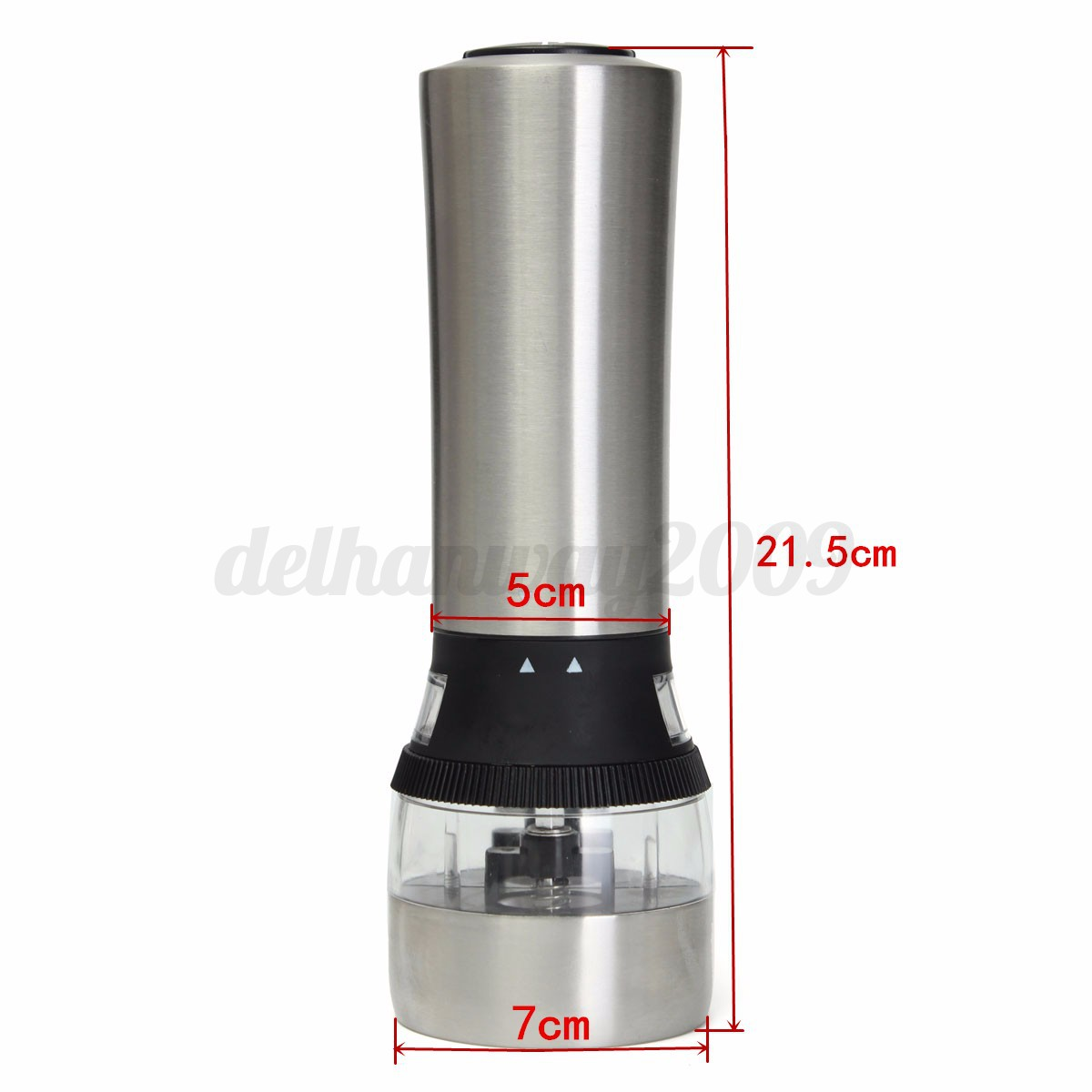 Electric Spice Grinder ~ In stainless steel electric spice salt pepper mill
