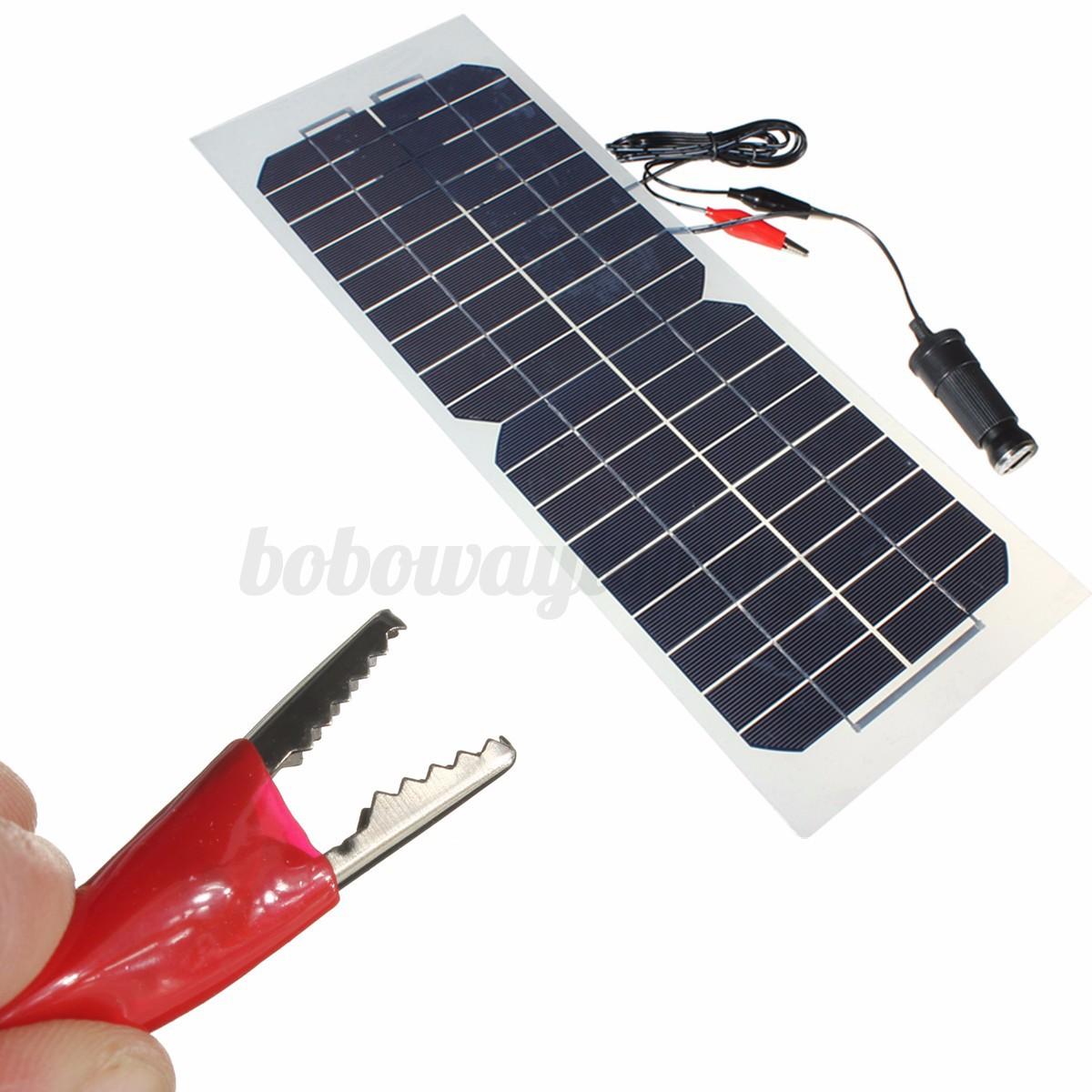 10w solarmodule semi flexible solarpanel monokristalline. Black Bedroom Furniture Sets. Home Design Ideas