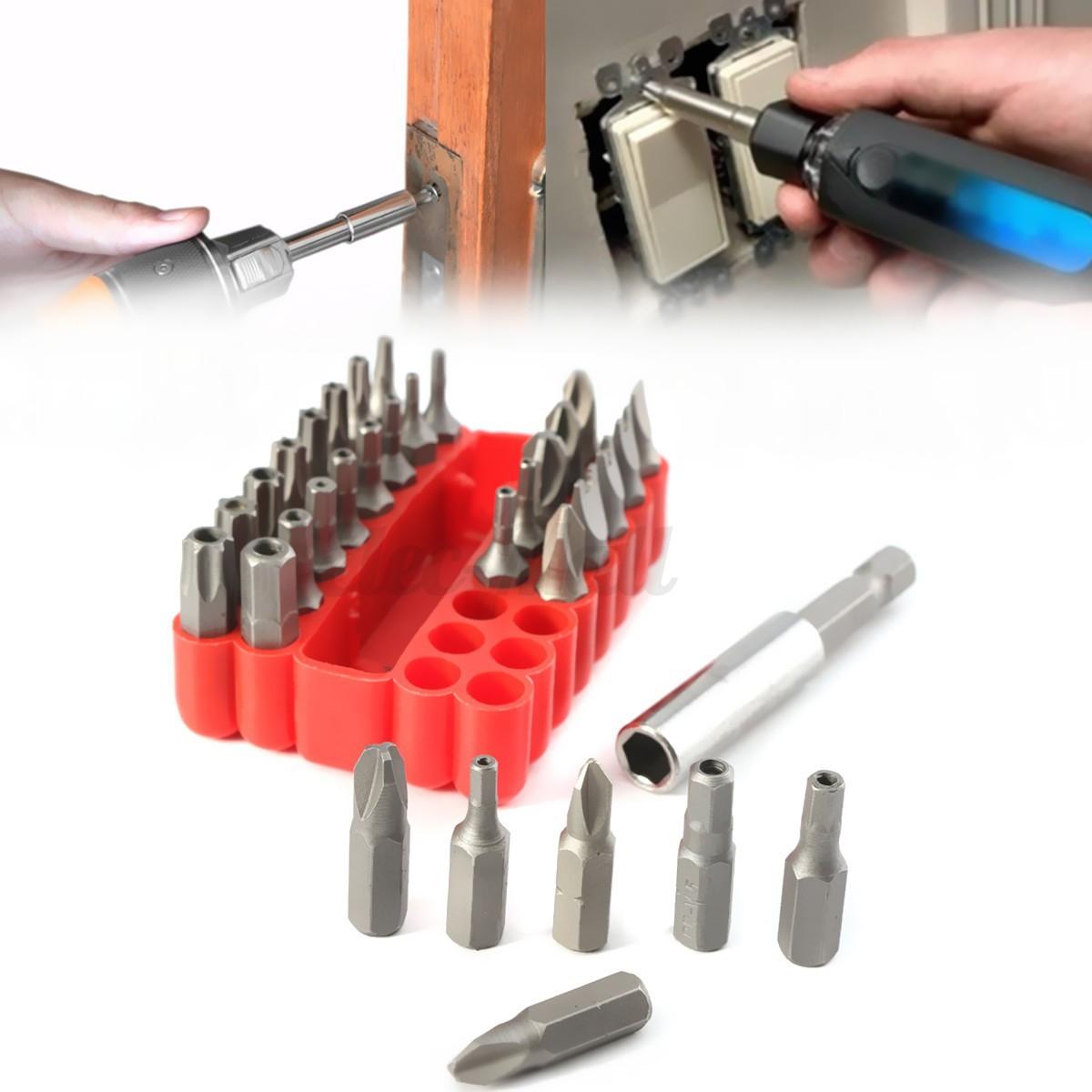33x security star torx screwdriver bit tips set kit drill holder case hex key ebay. Black Bedroom Furniture Sets. Home Design Ideas