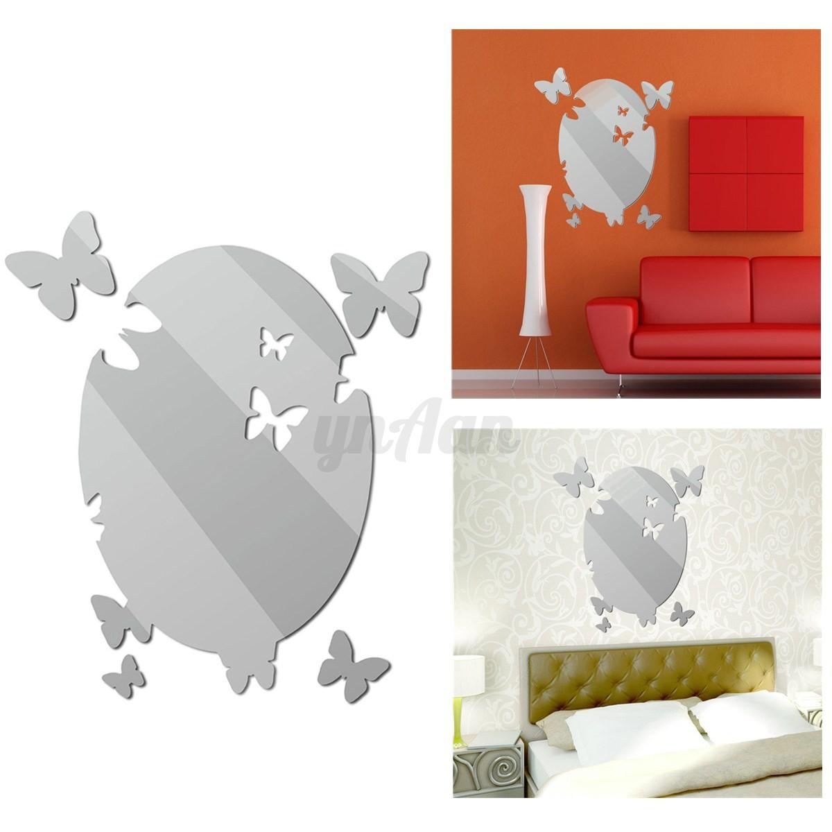 Diy modern 3d specchio adesivo da parete murali adesivi for Adesivi da parete 3d