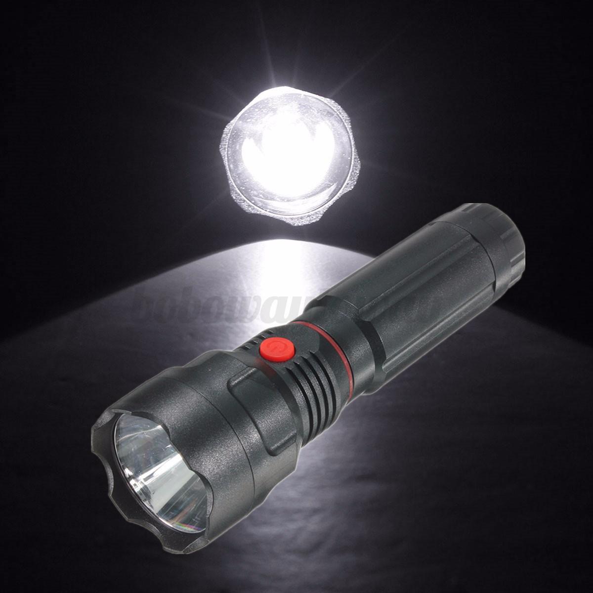 flashlight 3 modes work light inspection 250lm lamp torch black ebay. Black Bedroom Furniture Sets. Home Design Ideas