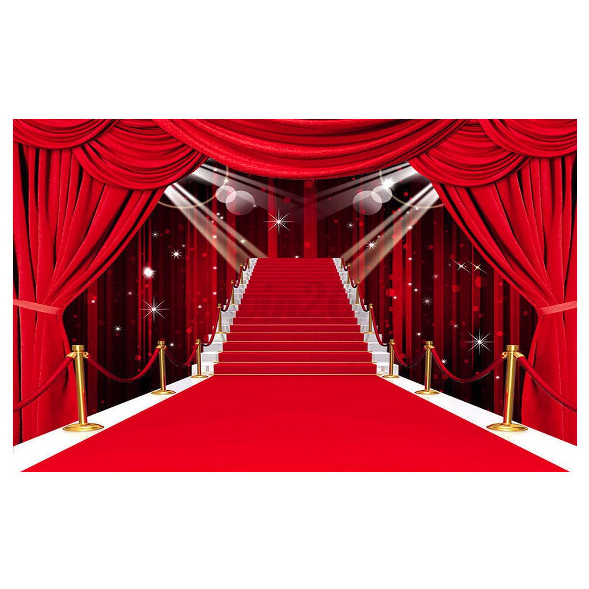 3x5ft Red Carpet Aisle Studio Props Backdrop Vinyl
