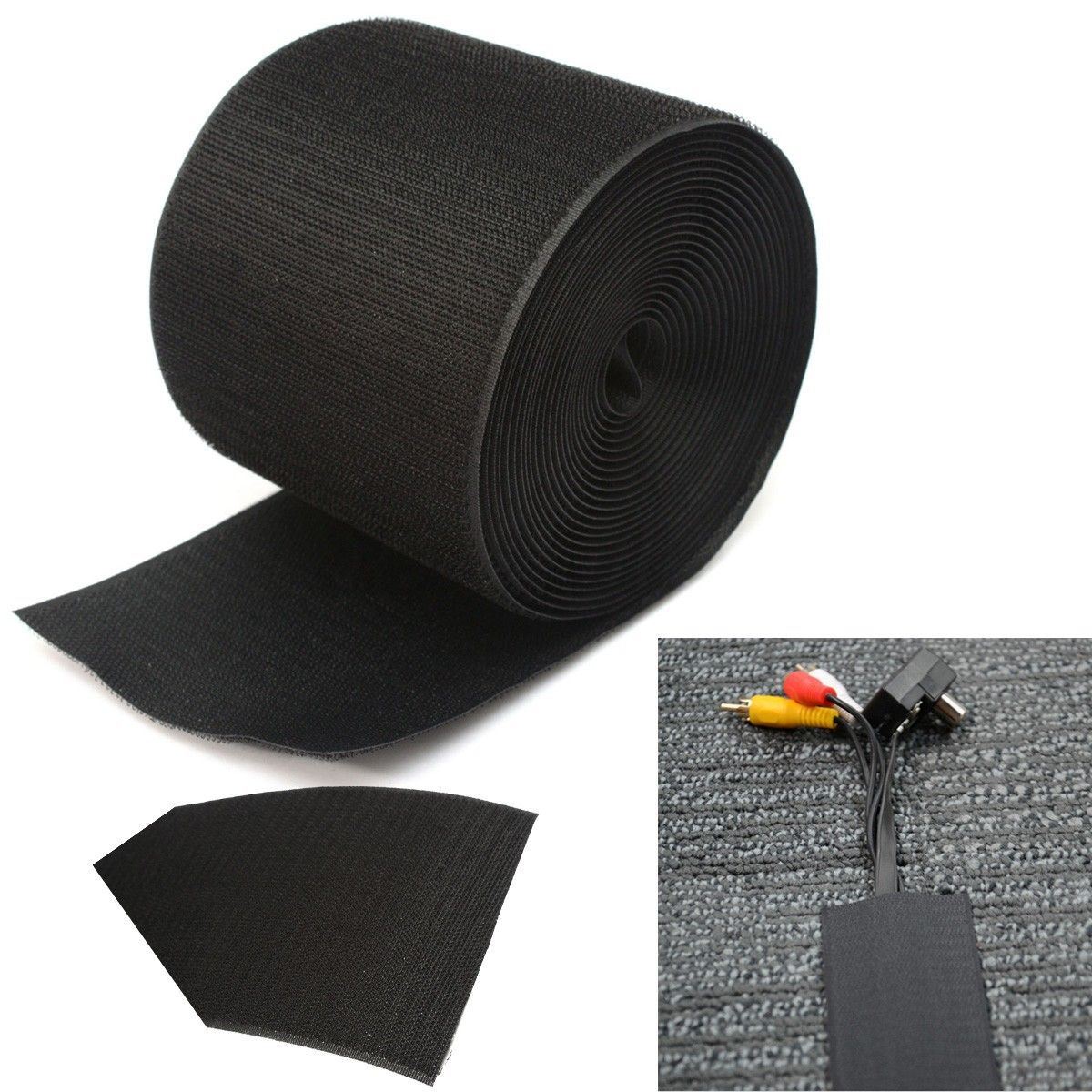 4 cable management organizer floor carpet nylon cover 5m wire sleeve protector ebay. Black Bedroom Furniture Sets. Home Design Ideas