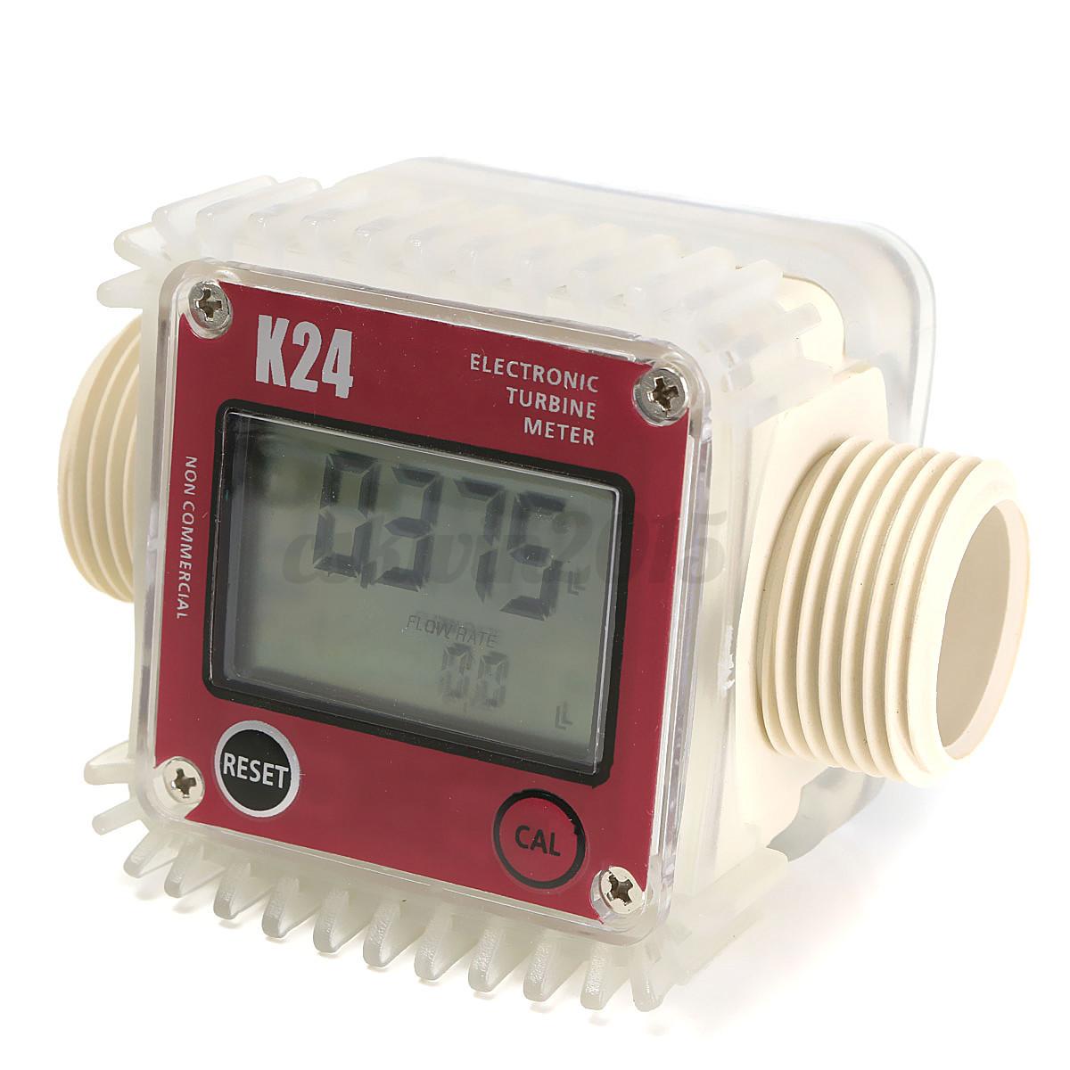 1pc lcd k24 turbine digital diesel fuel flow meter for. Black Bedroom Furniture Sets. Home Design Ideas
