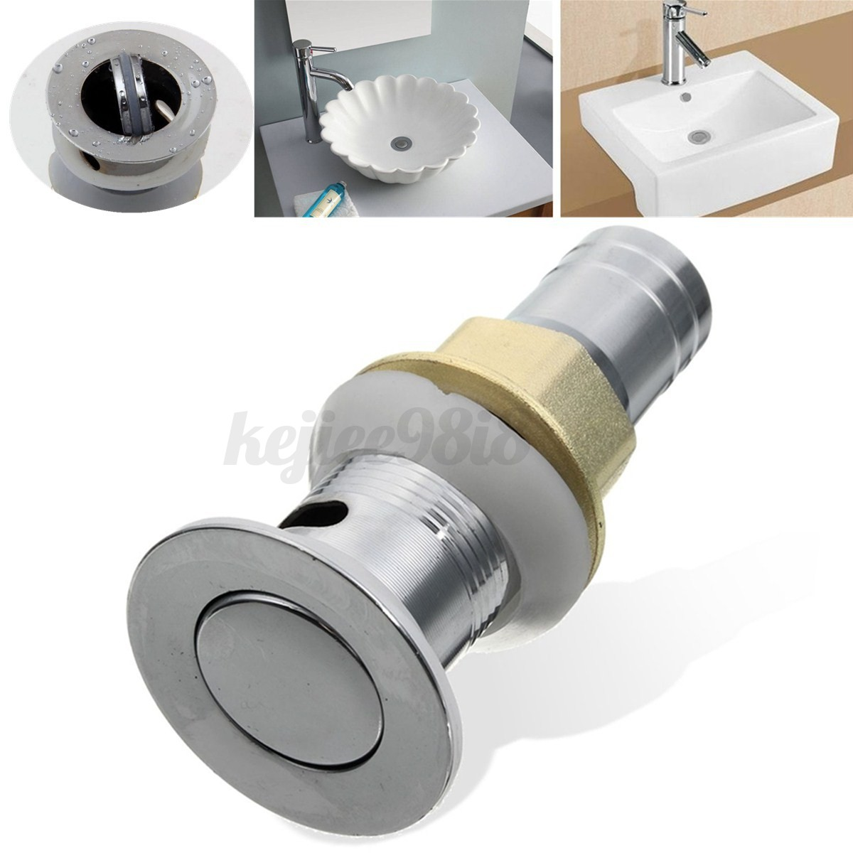 Image Is Loading Stainless Steel Sink Drain Lever Pop Up Waste