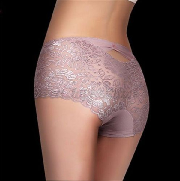 Sexy Women Bow Soft Lace Panties Lady Elastic Underwear Briefs Knickers M-3XL