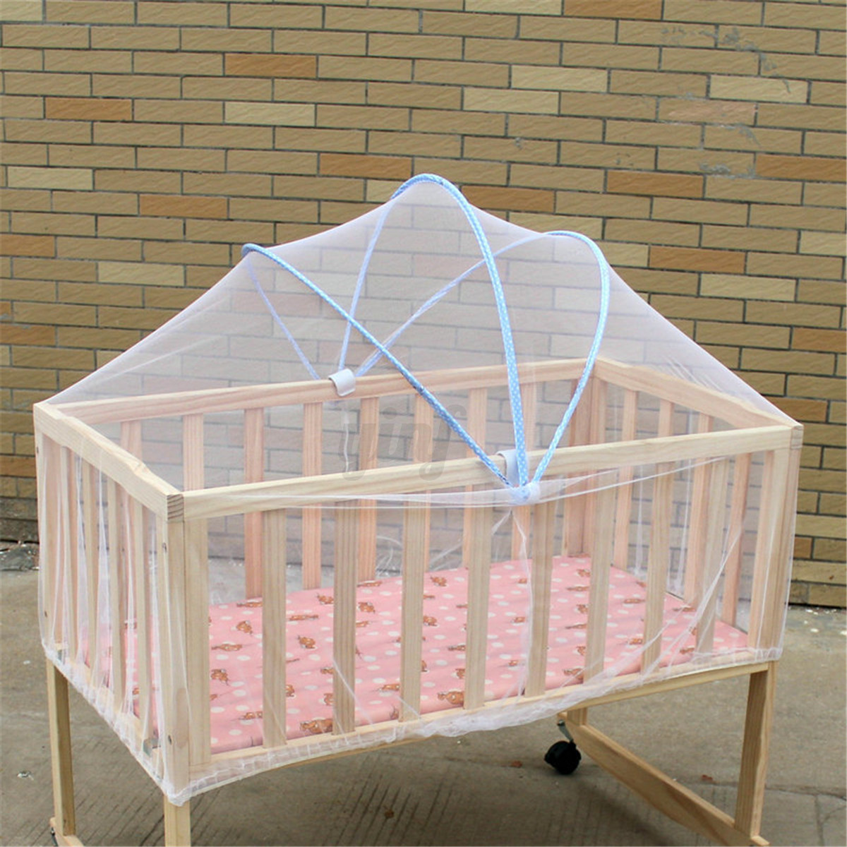 Summer white baby tent infant canopy mosquito net toddlers for White canopy crib