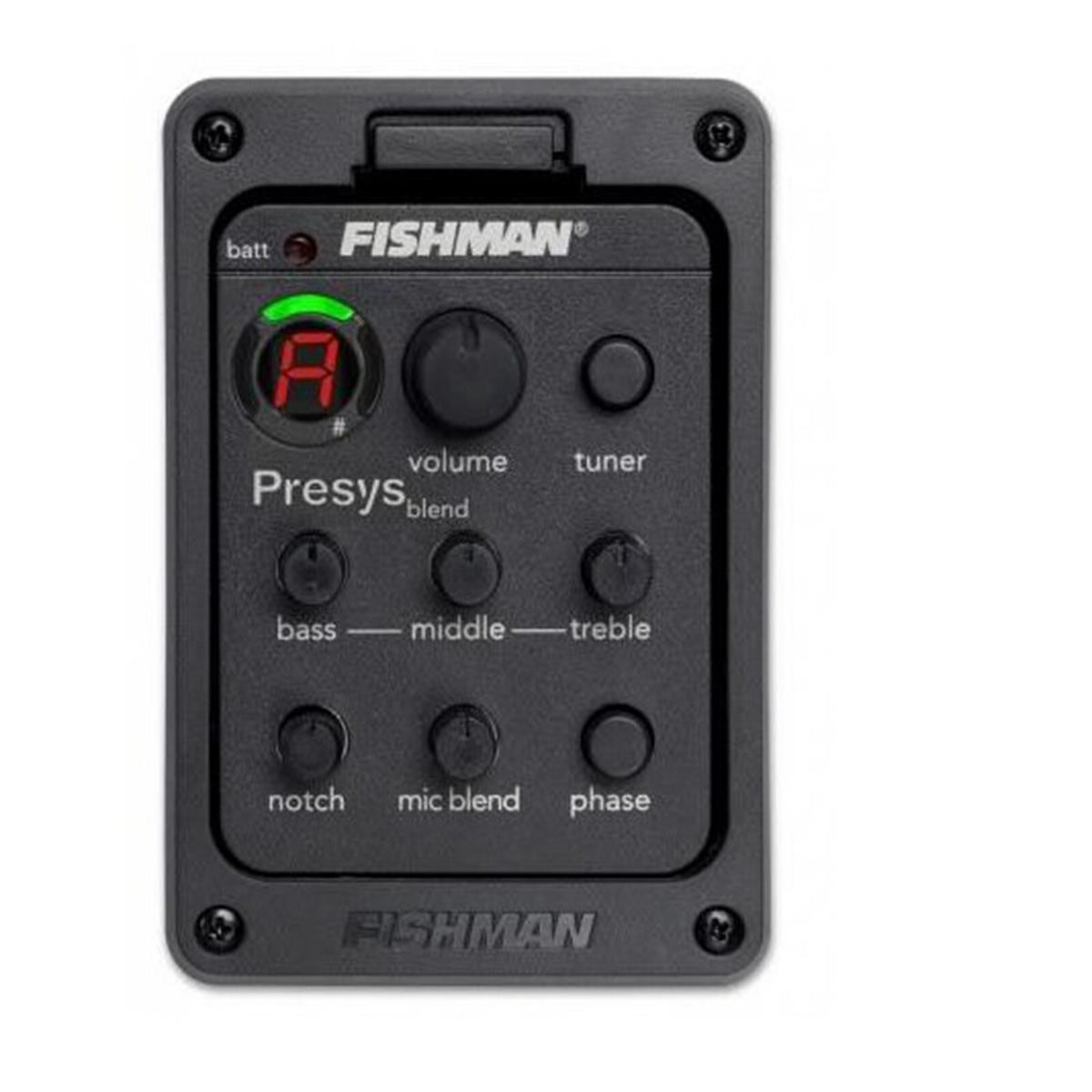 fishman psy 301 guitar pickups preamp eq tuner mic presys blend detail image