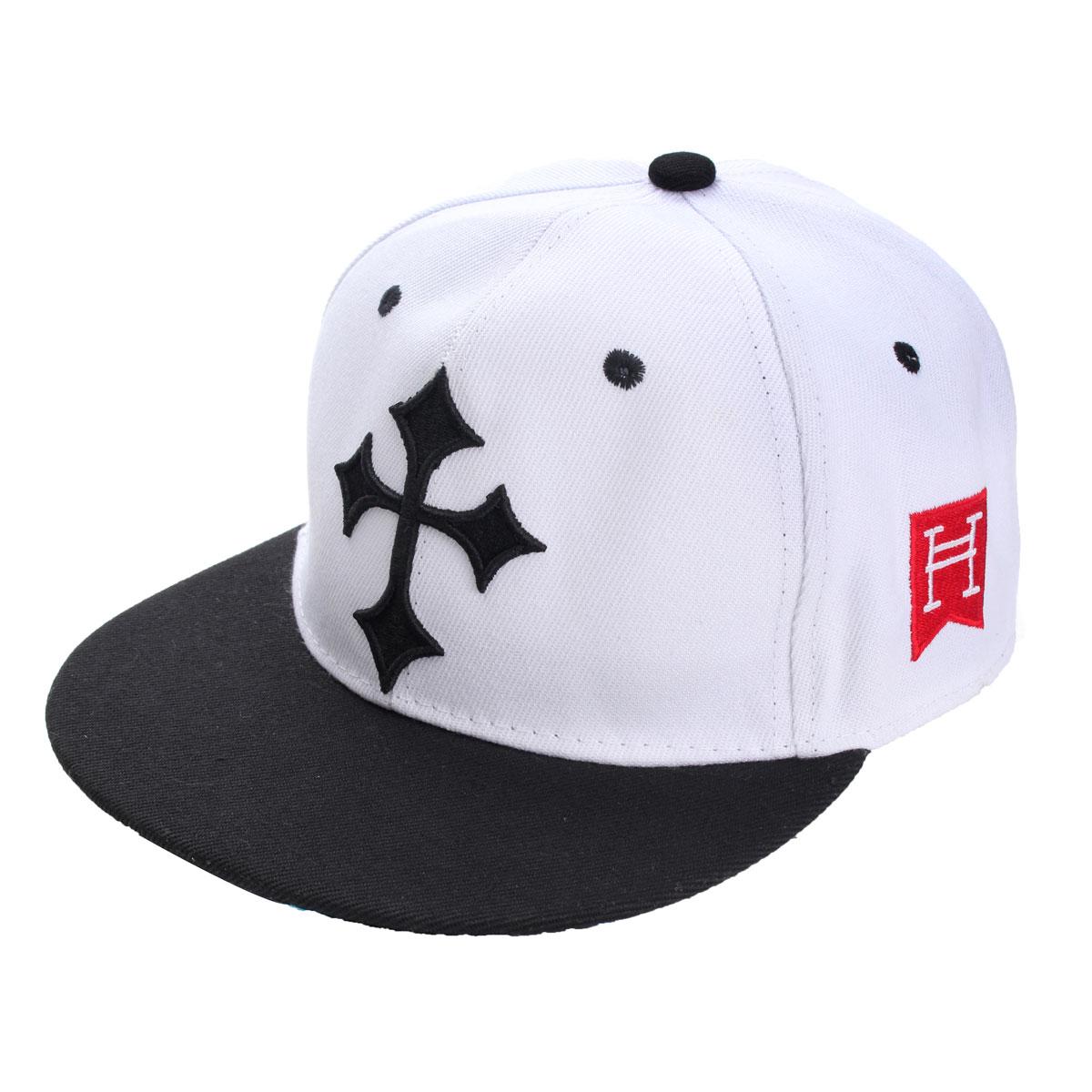 Men Women Adjustable Snapback Baseball Cap Hip Hop Bboy Cross Brim Dancing Hat