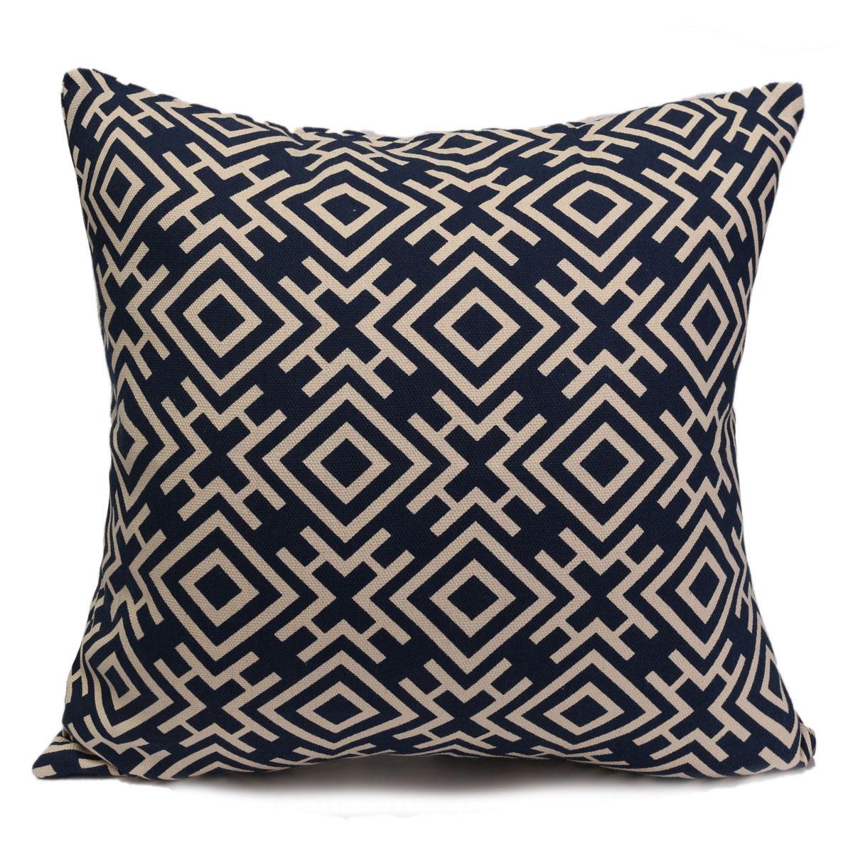 Vintage Chinoiserie Geometric Pillow Case Throw Cushion Cover Home Sofa Decor eBay