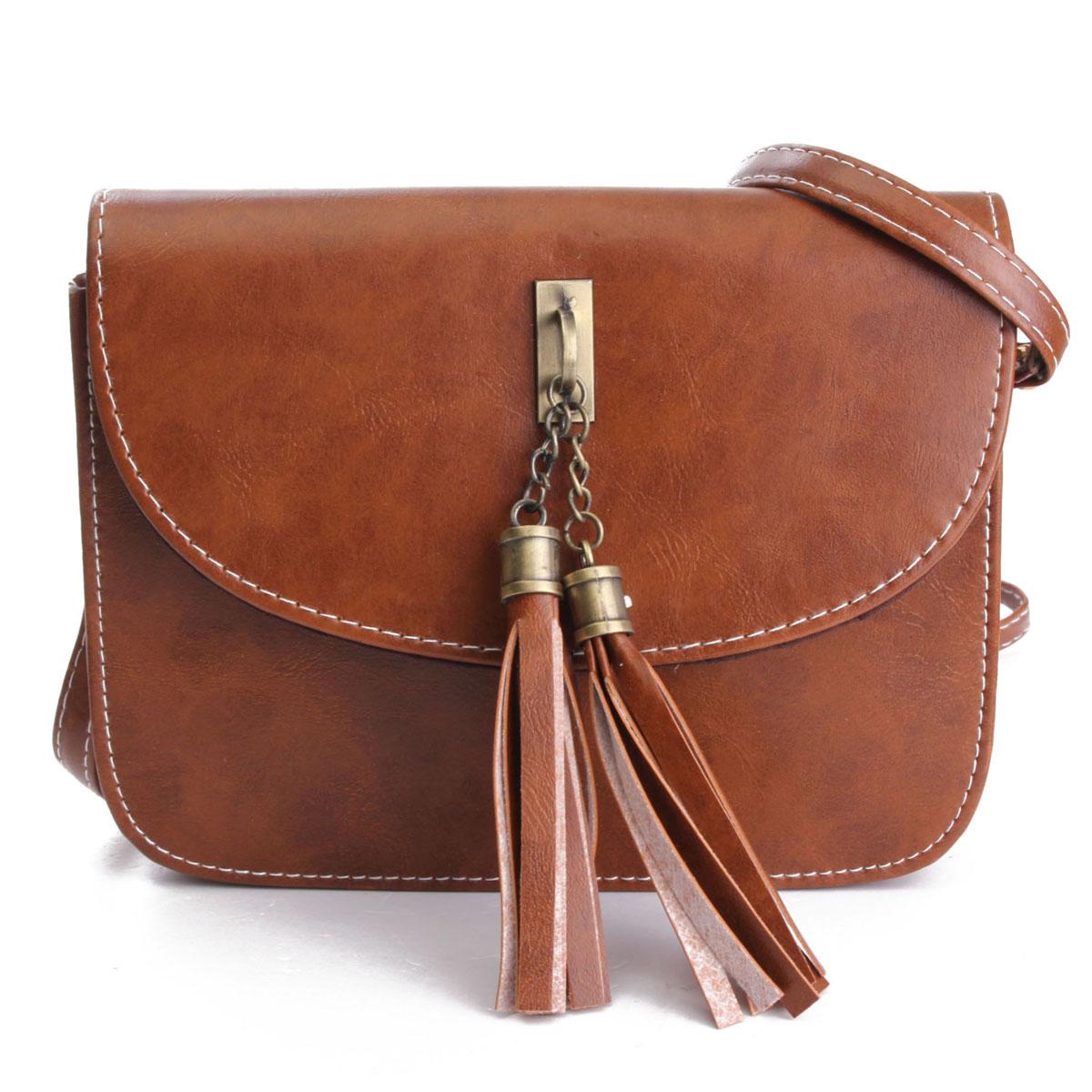 HOT Women Tassel Shoulder Bag Handbag Purse Satchel Messenger Crossbody Tote