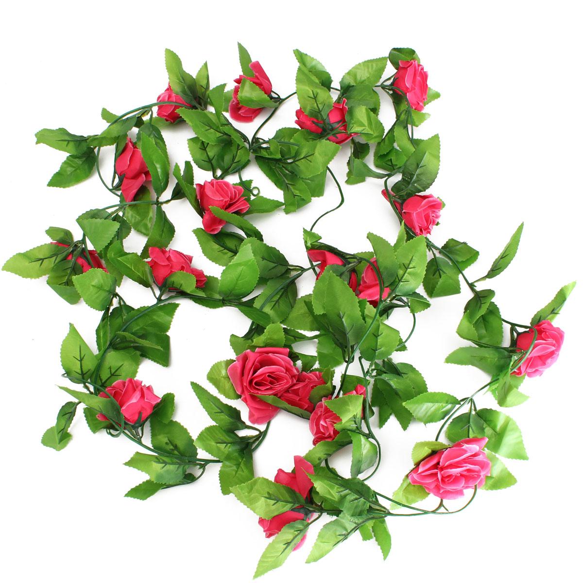 seidenblumen efeuranke blumenranke rosen kunstblumen blumen girlande ranken ebay. Black Bedroom Furniture Sets. Home Design Ideas