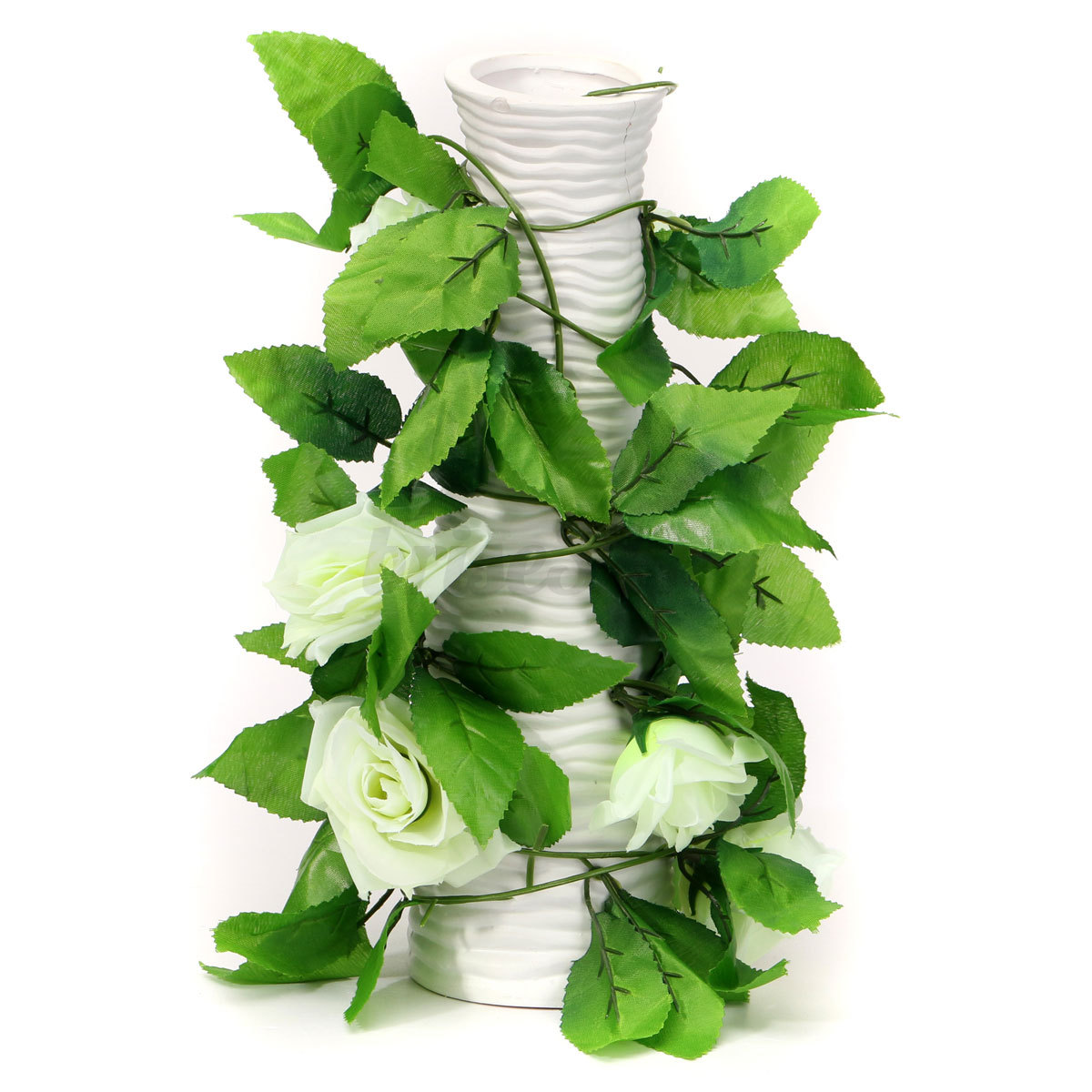 8ft artificial silk rose flower ivy vine hanging garland wedding home decor ebay. Black Bedroom Furniture Sets. Home Design Ideas