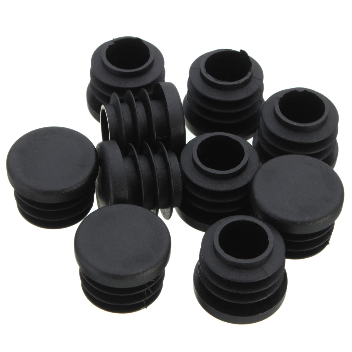 Pcs black plastic blanking end caps cap insert plugs