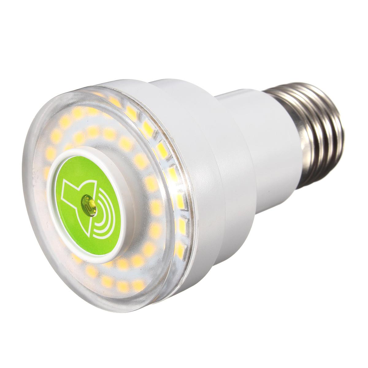 E27 led lampe ampoule eclairage capteur controle son for Lumiere led jardin
