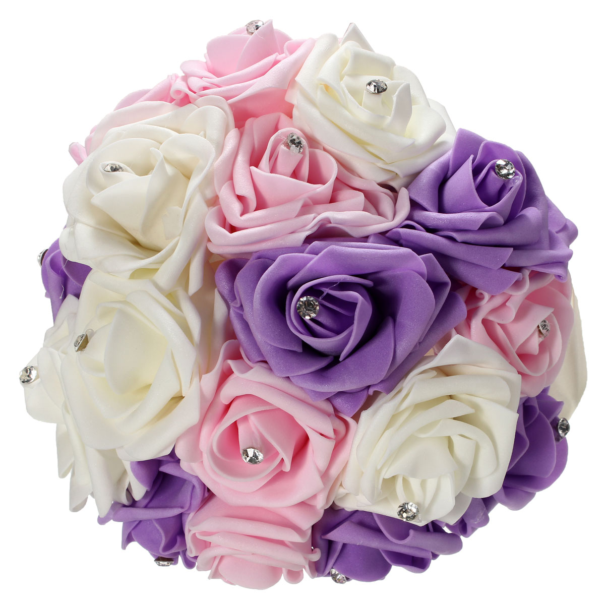 30 pcs Foam Roses Artificial Wedding Flower Ball Bride Bridesmaid ...