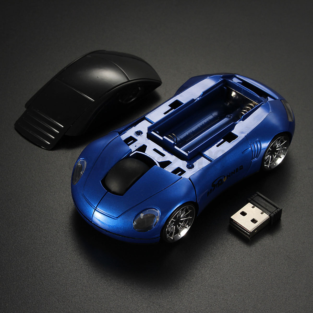 bestrunner souris sans fil optique car voiture 2 4g wireless mouse usb pc laptop ebay. Black Bedroom Furniture Sets. Home Design Ideas