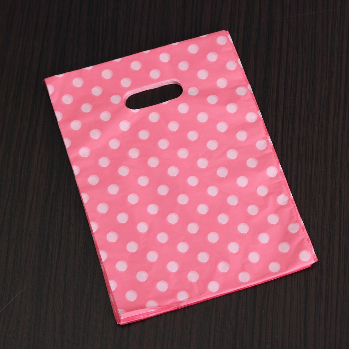 100pcs Pretty Mini Mixed Pattern Plastic Jewelry Gift Bag Shopping Pouch 20*15CM