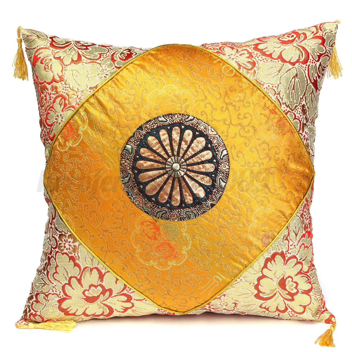 Decorative Pillows With Tassels : Vintage Flower Tassels Cotton Pillow Case Sofa Throw Cushion Cover Home Decor eBay