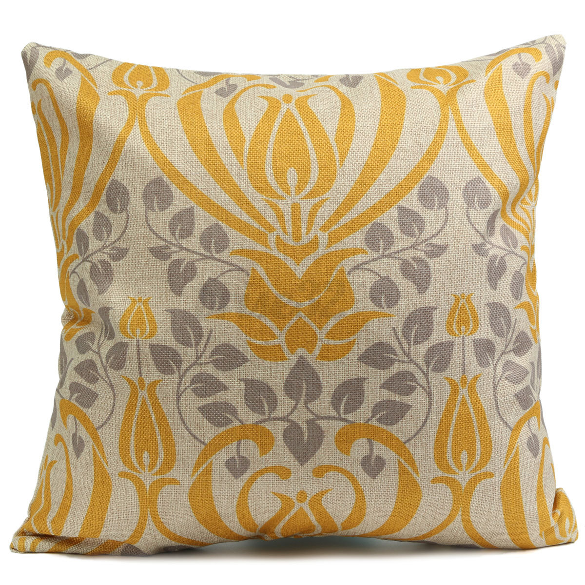 Yellow Linen Throw Pillow : Retro Yellow Flower Cotton Linen Pillow Case Cushion Cover Home Sofa Back Throw eBay