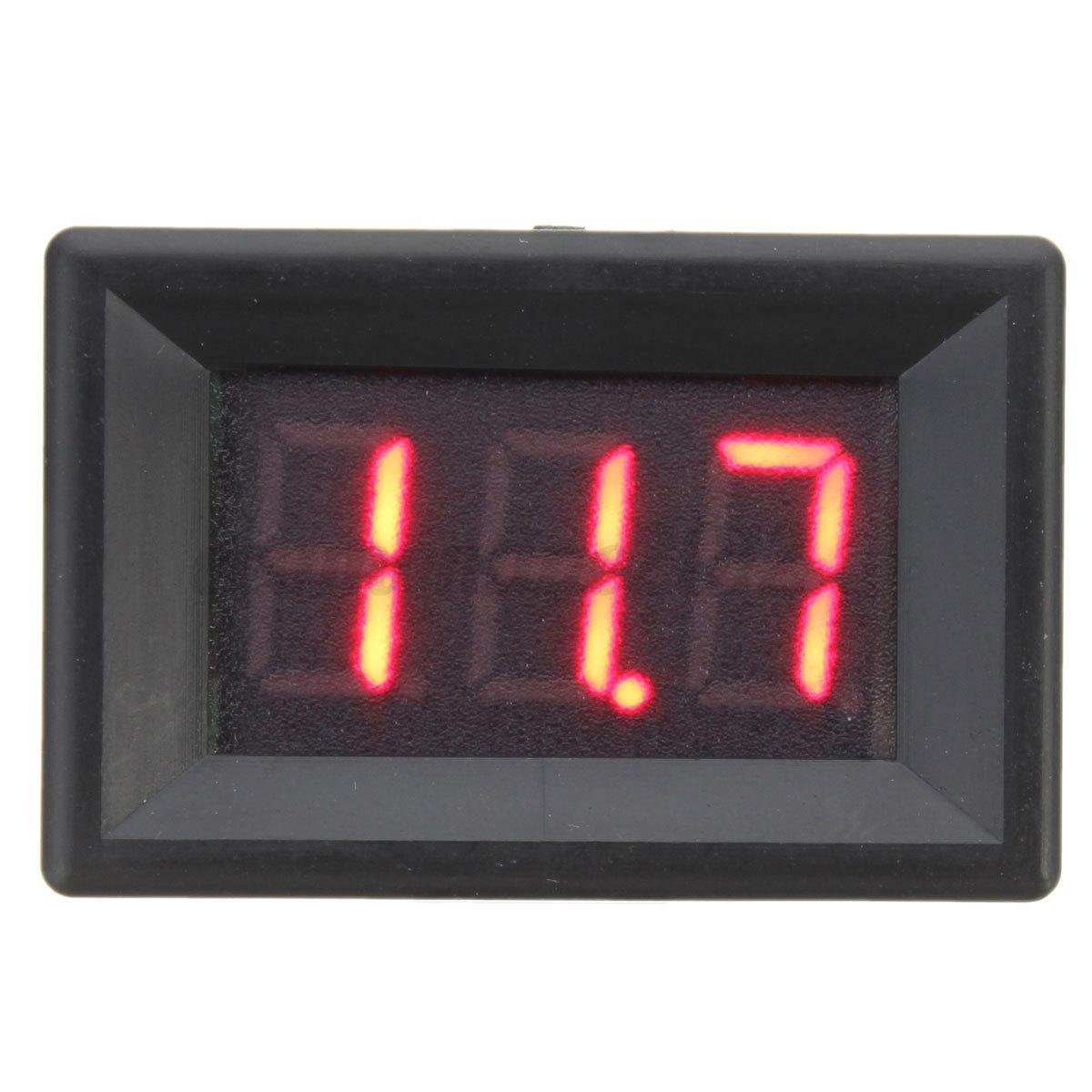Digital Display Meters : Dc v wire led display digital voltage meter