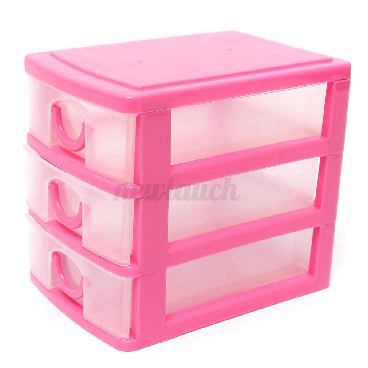 Aufbewahrungsbox mit 3 Schubladen Tisch Storage Box Schmuck Organizer Boxen UK