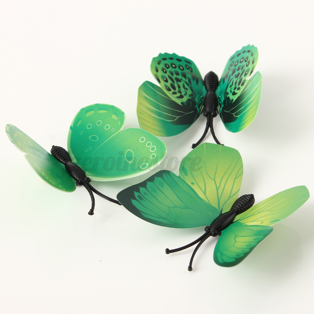 12pcs 3d butterfly green wall stickers sticker decor home for 3d butterfly decoration