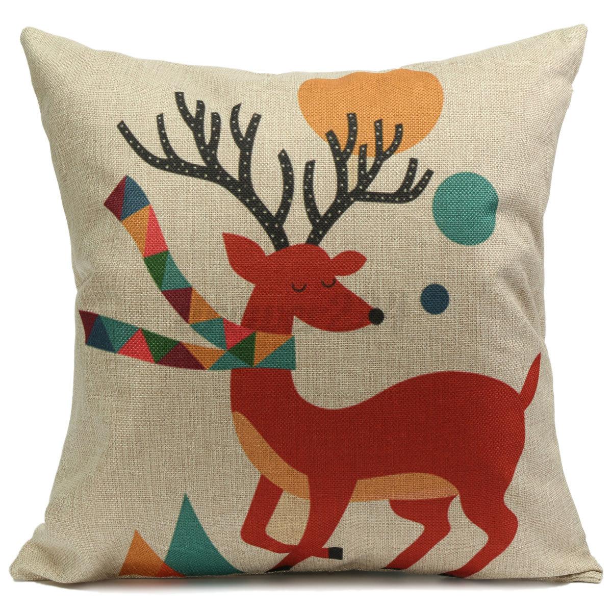 Vintage Animal Marine Cartoon Cotton Linen Throw Pillow Cushion Cover Case Home eBay