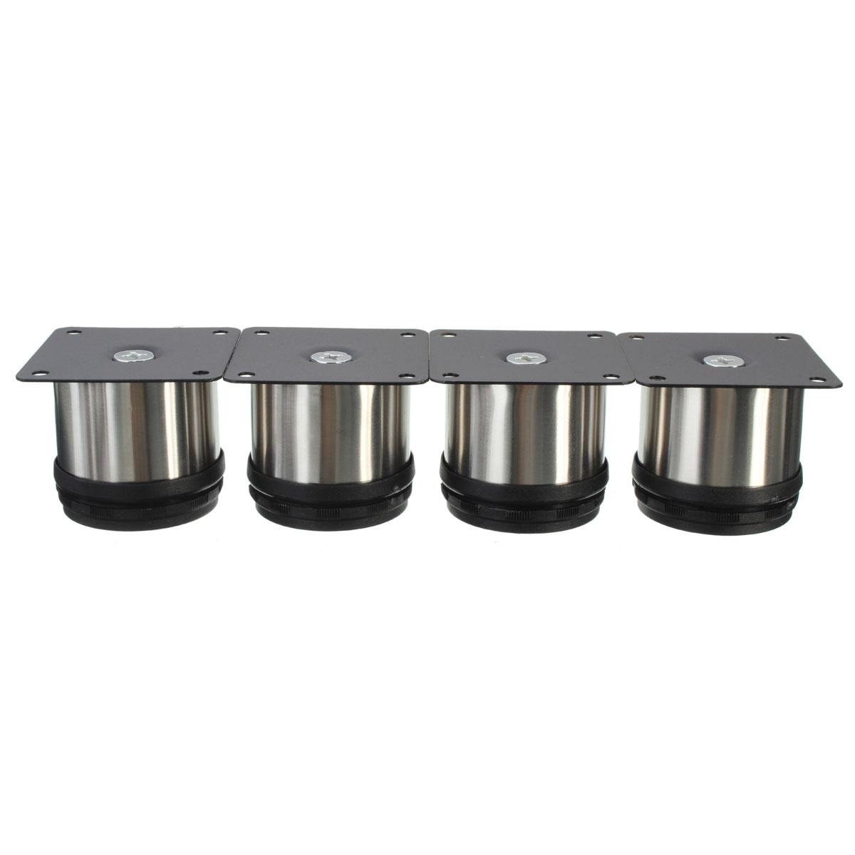 4Pcs Cabinet Legs Adjustable Stainless Steel Kitchen Feet Round ...