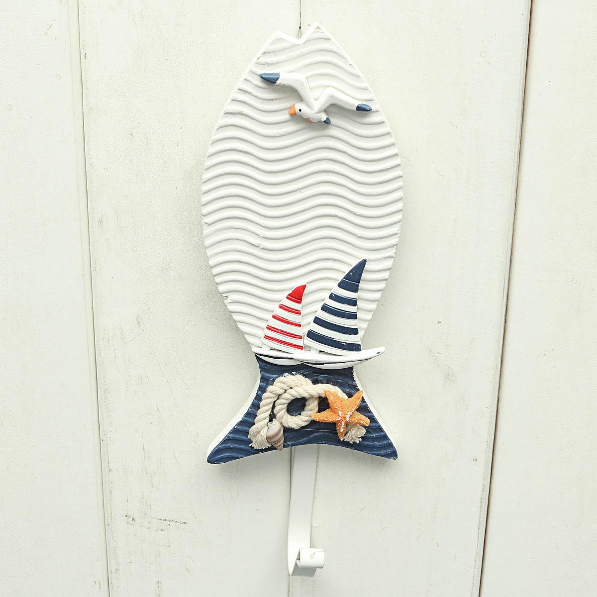 Wooden Chic Nautical Decorative Hook Coat Hat Clothes