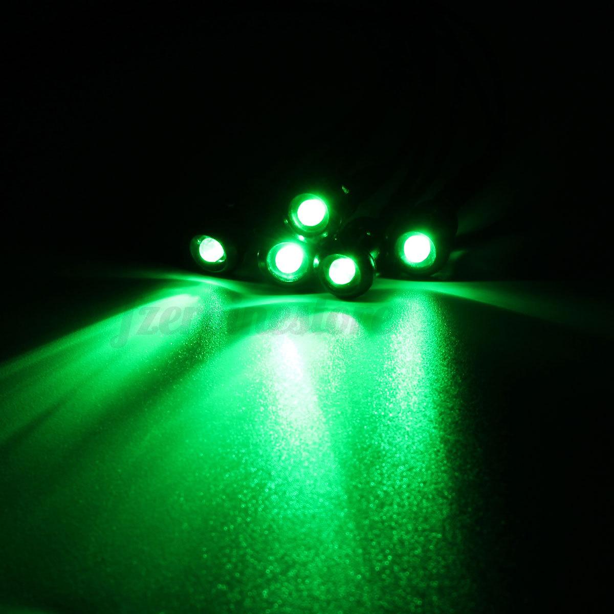5x verkabelt 3mm Amber LED Lamp Leuchte + 200mm Kabel DC 12V 8 ...