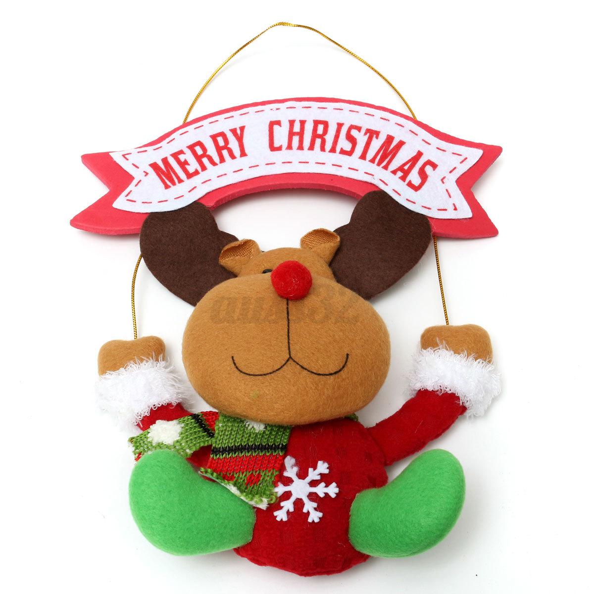 Christmas tree hanging decorations new parachute santa claus snowman - Christmas Xmas Gift Santa Claus Reindeer Snowman Parachute
