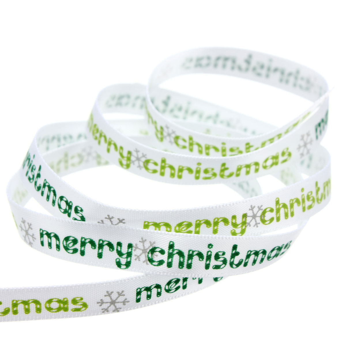 Multi-Pattern 5 Yards 3/8''10mm Merry Christmas Tree Grosgrain Ribbon Gift Decor