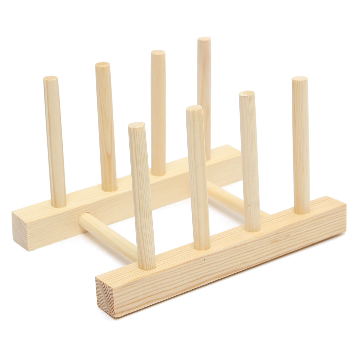 Wooden Plate Stand Wood 7 Dish Rack Pots Cups Display Drainer Holder . Full resolution  file, nominally Width 1200 Height 1200 pixels, file with #997132.