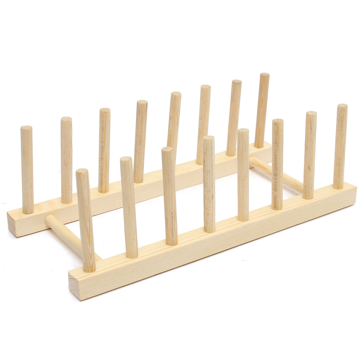 Wooden Plate Stand Wood 7 Dish Rack Pots Cups Display Drainer Holder . Full resolution  file, nominally Width 1200 Height 1200 pixels, file with #A27229.