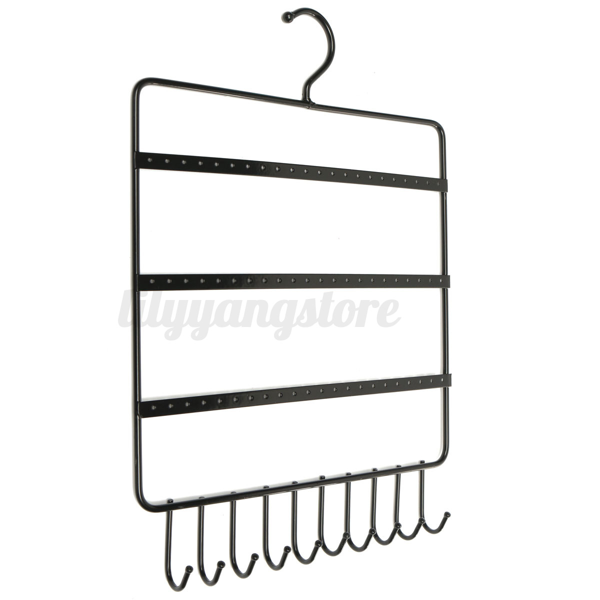 Iron Wall Earring Necklace Stable Rack Jewelry Display Organizer Hanging Holder